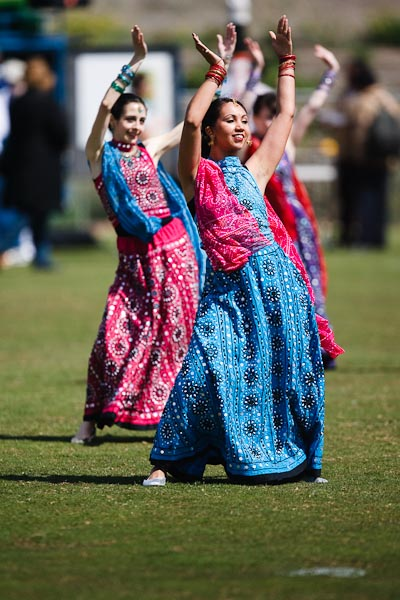 Indian Bollywood dancing... Photo by Barry Johnston.