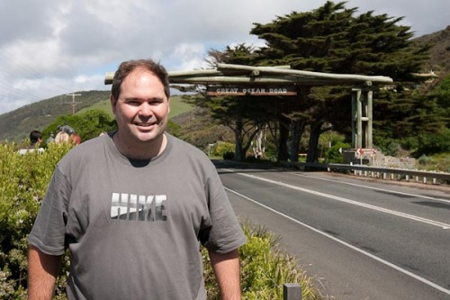 The official start of the Great Ocean Road. Photo by Barry Johnston.