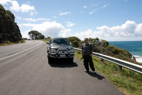 We then stopped to photograph bikers heading towards Philip Island... Photo by Barry Johnston.