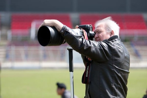 Barry with his 400mm F2.8 Canon lens!