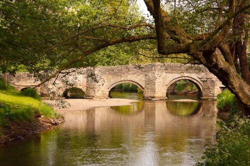 The bridge over the Clun River in a village called Clun near where I live in Wales. Taken in May 2008.