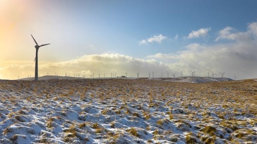 Taken on a windmill farm near where I live in Wales in January 2009.