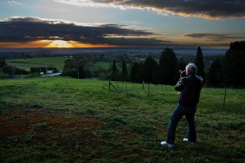 Barry photographing the sunset.