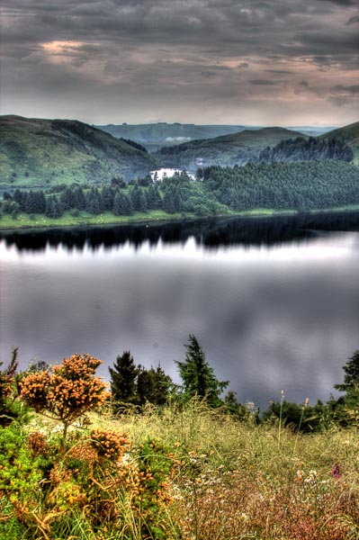 HDR image of Clywedog dam which is not far from where I live in Wales.
