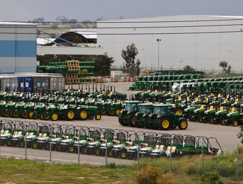 On our way out of Melbourne we had seen the John Deere tractor factory. So I grabbed this sot on the way back. I had never seen so many tractors!